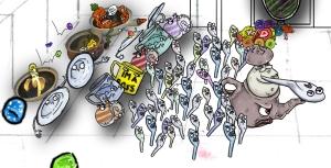 Imagination drawing-The Raging War 13.9.2013 digital